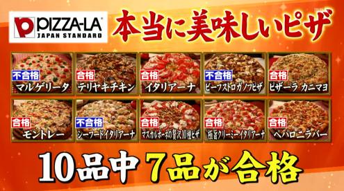 ジョブチューンピザーラ合格7ピザ