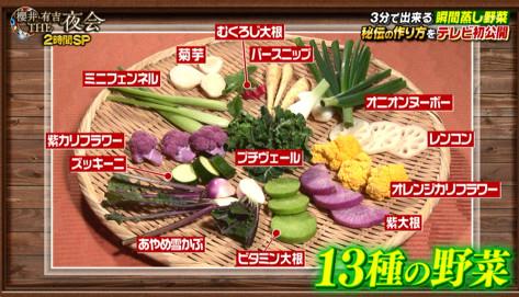 瞬間蒸し野菜材料⑬