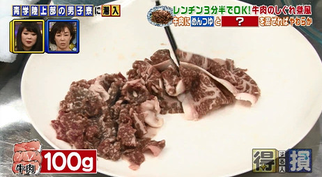 得する人損する人・牛肉のしぐれ煮風の作り方1