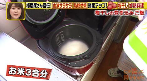 梅干し炊き込みご飯作り方1
