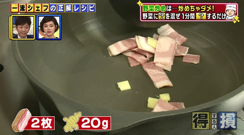 得する人損する人チンゲン菜2