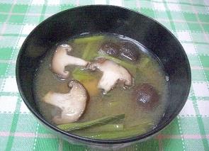 世界一受けたい授業小松菜としいたけの味噌汁